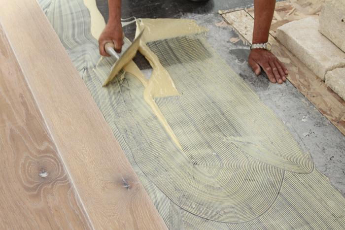 Glue Down Hardwood Flooring Installation
