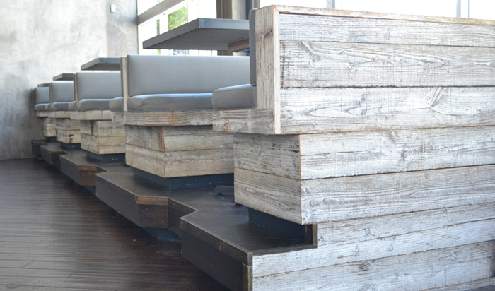 Reclaimed Barn Siding - antique wall sidings and antique ceiling