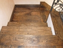 Reclaimed Oak Hand Scraped Ebony Engineered